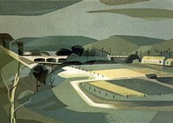 Sale 9091A - Lot 5011 - Kenneth Jack (1924 - 2006) - Seven Bridges over the Maribyrnon - no. 6 Keilor 28 x 38 cm (frame: 45 x 54.5 cm)