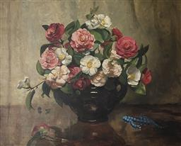 Sale 9123J - Lot 83 - Violet McInnes- Roses oil on canvas 57x70cm signed lower right