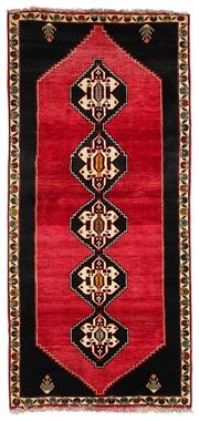 Sale 8536A - Lot 58 - A Qashgai Southern Persian Wool Carpet Iran 197cm x 91cm RRP $1,250.00