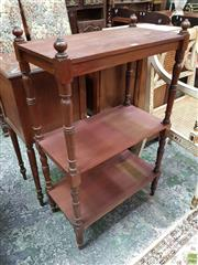 Sale 8634 - Lot 1036 - Possibly 19th Century Cedar Whatnot, of three tiers & on turned supports