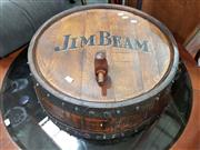 Sale 8688 - Lot 1094 - Jim Beam Barrel Wall Hanging