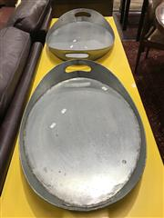 Sale 8809 - Lot 1091 - Pair of Galvanised Trays
