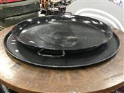 Sale 8822 - Lot 1553 - Oversized Metal Platters x 2