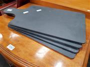 Sale 8834 - Lot 1043 - Set of 4 Black Slate Serving Trays