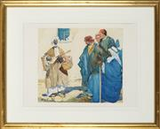 Sale 8838A - Lot 5190 - Archibald Stevenson Forrest - The Wandering Minstrel 31 x 35cm