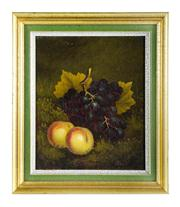 Sale 8828B - Lot 75 - Daniel H. Winder (1880-1920) - Still Life of Fruit 30 x 25cm
