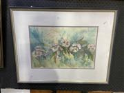 Sale 8978 - Lot 2061 - Betty Mackinnon - Gum Blossoms, ink & watercolour