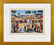 Sale 8323A - Lot 39 - Kevin Charles (Pro) Hart (1928 - 2006) - The Backyard Keg 29 x 41cm