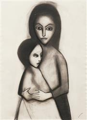 Sale 8746 - Lot 1044 - Robert Dickerson (1924 - 2015) - Mother and Child 74 x 54.5cm
