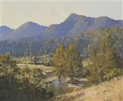 Sale 8704 - Lot 507 - Les Graham (1942 - ) - Country NSW 49.5 x 59.5cm