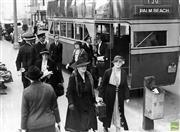 Sale 8721A - Lot 77 - Artist Unknown - Palm Beach Bus, 1938 15 x 20cm