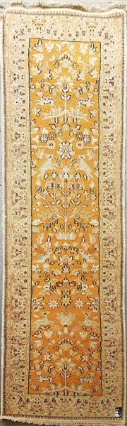 Sale 8787 - Lot 1025 - Persian Woollen Runner Depicting Tree of Life with Deers & Birds (290 x 87cm)