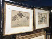 Sale 8824 - Lot 2051 - Pair of hand-coloured Botanical Lithographs
