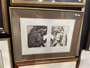 Sale 9028 - Lot 2021 - Bettina McMahon Dual Image etching and aquatint ED. 3/10, frame: 56 x 72cm, signed and dated lower right