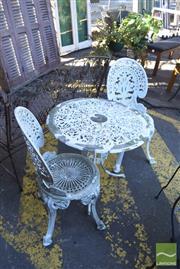 Sale 8390 - Lot 1376 - Metal 3 Piece Outdoor Suite