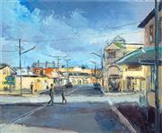 Sale 8491 - Lot 2004 - Dusan Milobabic - The Corner Shop 30 x 25 cm