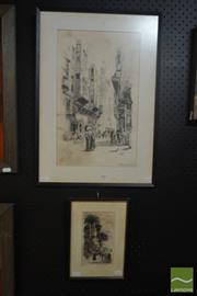 Sale 8525 - Lot 2007 - Will Ashton (1881 - 1963) (2 works) - Egypt 1921; 1923 42.5 x 26cm; 17.5 x 10cm