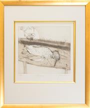 Sale 8550H - Lot 20 - John Olsen - Penguin, 2005 28.5 x 25.5