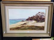 Sale 8587 - Lot 2077 - Peter Whelan, Sand Dunes, Sussx Inlet, oil on board, frame size; 59 x 82cm, signed lower left