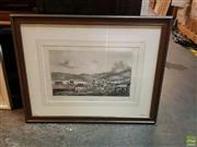 Sale 8627 - Lot 2086 - Louis de Sainson View of Hobart Town lithograph, 59. x 76.5cm