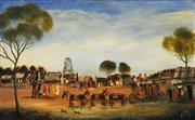 Sale 8652 - Lot 555 - Kevin Charles (Pro) Hart (1928 - 2006) - Departing Coach, 1975 74.5 x 120.5cm