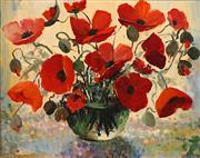 Sale 8656 - Lot 502 - Karlis Mednis (1910 - 1999) - Poppies 49.5 x 62.5cm