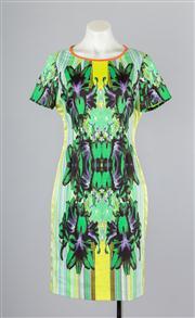 Sale 8685F - Lot 36 - A BCBG Max Azria printed poly-blend sundress, size medium