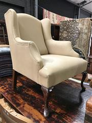 Sale 8817 - Lot 1068 - Fabric Upholstered Wingback (large stain)
