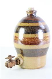 Sale 8994W - Lot 627 - Bendigo Pottery Stoneware Demijohn With Spout (H: 30cm) (some wear to spout)
