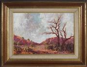 Sale 9082 - Lot 2094 - Vicki Darken (1929 - 1974) - Salute To The Clouds, Central Australia 23.5 x 33.5 cm (39 x 49 x 3 cm)