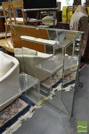 Sale 8515 - Lot 1092 - Bevelled Edge Mirrored Framed Mirror
