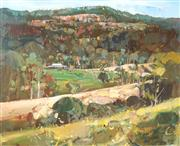 Sale 8549 - Lot 507 - Ken Strong (1960 - ) - Landscape - Vale, 1992 48.5 x 59.5cm