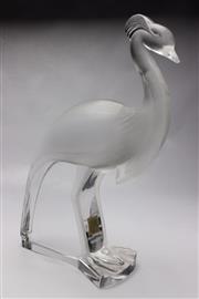 Sale 8710 - Lot 63 - Crystal Lalique Paris Bird Figure ( H 37cm)