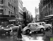 Sale 8721A - Lot 79 - Artist Unknown - View of King Street from York Street, Sydney, NSW 1961 20 x 27cm