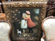 Sale 8841 - Lot 2063 - A.Claude Friendship hath no Boundaries acrylic on canvas, signed lower right