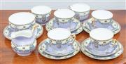 Sale 8908H - Lot 72 - A six piece Paragon China lavender tea set comprising milk jug, sugar, six cups and four plates