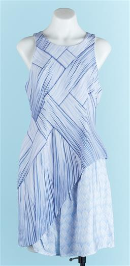Sale 9091F - Lot 32 - A RACHEL ALEX WOVEN DESIGN SLEEVELES DRESS, in lavender, size M.