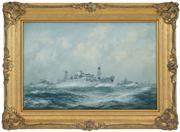 Sale 8449A - Lot 595 - John Allcot (1888 - 1973) - M.S Boissevain in Convoy! 29.5 x 44.5cm