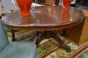 Sale 8507 - Lot 1095 - Walnut Quarter Veneered Loo Table on Tripod Base