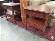 Sale 8676 - Lot 1390 - Pair of Timber Side Tables