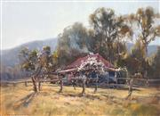 Sale 8675 - Lot 503 - John Sharman (1939 - ) - Spring Morning, Upper Kangaroo Valley 44 x 59.5cm