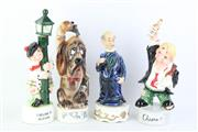 Sale 8802 - Lot 4 - Hound Form Musical Ceramic Decanter with 3 Figural Examples