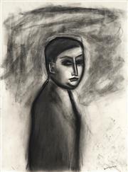 Sale 8947 - Lot 550 - Robert Dickerson (1924 - 2015) - Untitled (Portrait) 77 x 57 cm