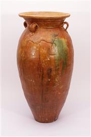 Sale 9015C - Lot 738 - Brown glazed earthenware vase (H59cm)
