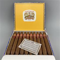 Sale 9165 - Lot 651 - Partagas Salomones Cuban Cigars - box of 10 cigars, dated August 2020