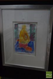 Sale 8541 - Lot 2064 - Christabel Blackman -Studio and Model, 2013 42 x 28cm
