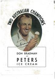 Sale 8555A - Lot 5018 - Don Bradman Peters Ice-Cream Advertisement