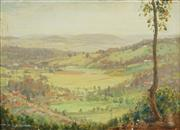 Sale 8791A - Lot 5073 - Roy Rousel (1897 - 1985) - Valley Landscape 35 x 50cm
