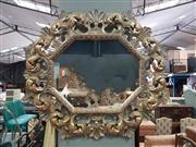 Sale 8934 - Lot 1052 - Ornate Octagonal Gilt Framed Mirror