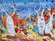 Sale 8958A - Lot 5034 - Matthew Perceval (1945 - ) - Boab Trees Near Mount Barnett 37 x 50 cm (frame: 56 x 69 x 5 cm)